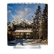 Building On A Cold Sunny Day  Shower Curtain