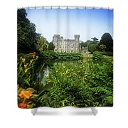 Building Structure In A Garden Shower Curtain