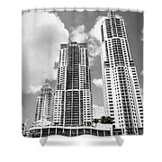 Buildings Downtown Miami Shower Curtain