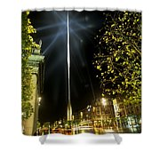 Buildings Lit Up At Night, Oconnell Shower Curtain