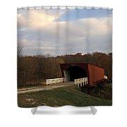 Built In 1883 Roseman Bridge Shower Curtain