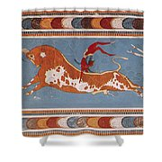 Bull-leaping Fresco From Minoan Culture Shower Curtain