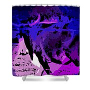 Bull On The Move Shower Curtain