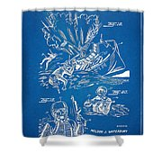 Bulletproof Patent Artwork 1968 Figures 18 To 20 Shower Curtain
