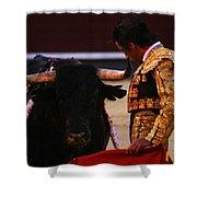 Bullfight Madrid Shower Curtain
