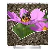 Bumble Bee Pop Out Shower Curtain