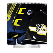 Bumble Bee Power Shower Curtain