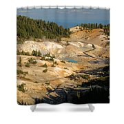 Bumpass Hell Shower Curtain