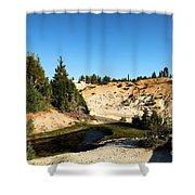 Bumpass Hell Pools Shower Curtain