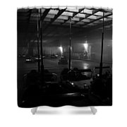 Bumper Cars In Fog Shower Curtain