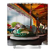 Bumper Cars Shower Curtain