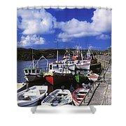 Bunbeg, Donegal, Ireland Harbour Of A Shower Curtain