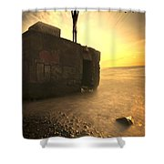 Bunkeruntergang  Shower Curtain