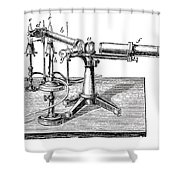 Bunsen-kirchhoff Spectroscopic Shower Curtain