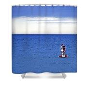 Buoy Off Bass Harbor Head Shower Curtain