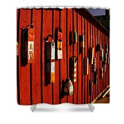 Rockport Buoy Wall - Greeting Card Shower Curtain
