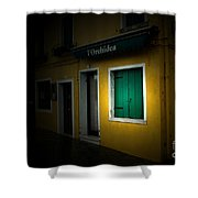 Burano Flower Shop Shower Curtain