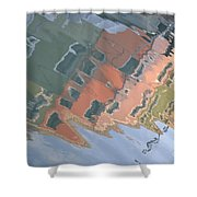 Burano House Reflections Shower Curtain