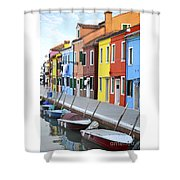 Burano Italy 2 Shower Curtain
