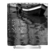 Burano Reflections Bw Shower Curtain