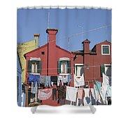 Burano. Venice Shower Curtain
