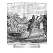 Burma: Dance, 1853 Shower Curtain