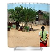 Burma Small Village Shower Curtain