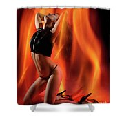 Burning In Flames Shower Curtain