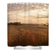 Burning Leaves On The Farm Shower Curtain
