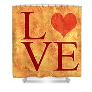 Burning Love Shower Curtain