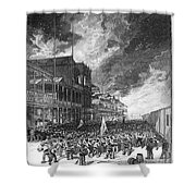 Burning Of Colon, 1885 Shower Curtain