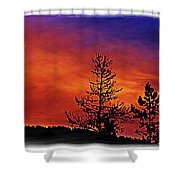 Burning Sunrise Shower Curtain