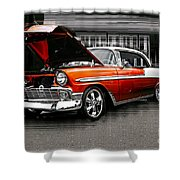 Burnt Orange Chevy Abstract Shower Curtain