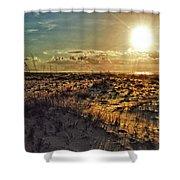 Burnt Orange Sunrise Shower Curtain