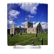 Burrishoole Friary, Co Mayo, Ireland Shower Curtain by The Irish Image Collection