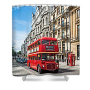 Bus On Piccadilly Shower Curtain