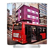 Bus Stop - La Coruna Shower Curtain