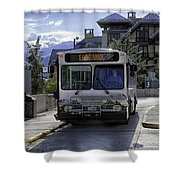 Bus To East Vail - Colorado Shower Curtain