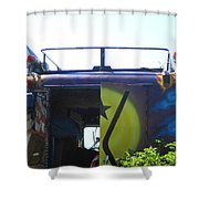 Bus With A 59 Cadillac On Top Shower Curtain