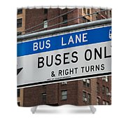Buses Only I Shower Curtain