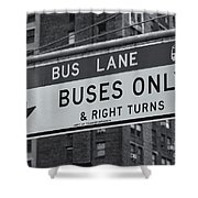 Buses Only II Shower Curtain