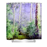Bush Trail At The Afternoon Shower Curtain