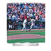 Buster Posey Runs Home Shower Curtain