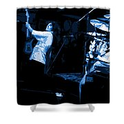Bustin Out For Blue Winterland Shower Curtain