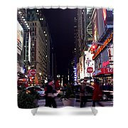 Busy Sidewalks Of The City Shower Curtain