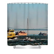 Busy Waters Shower Curtain