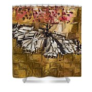 Butter Can't Fly Shower Curtain