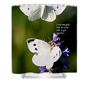 Butterflies - Cabbage White - Enjoyed The Togetherness Shower Curtain