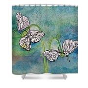 Butterflies Hanging Out Shower Curtain