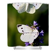Butterfly - Cabbage White - As One Shower Curtain